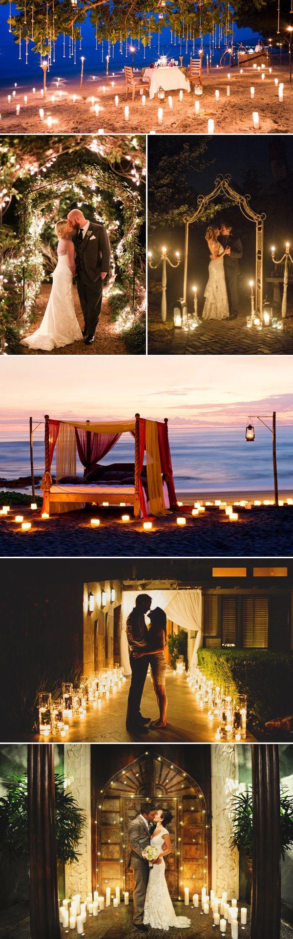 22 Utterly Romantic Candlelight Entrance Decor Ideas - Surrounding Lights
