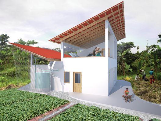 Perú: ONG construye prototipo de vivienda sostenible centrado en la recolección de las aguas-lluvia,Courtesy of Yantaló Perú Foundation