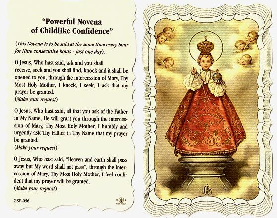 Infant of Prague ~ powerful Novena