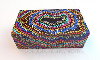 denthe #painted boxes #wooden boxes #dotpainting