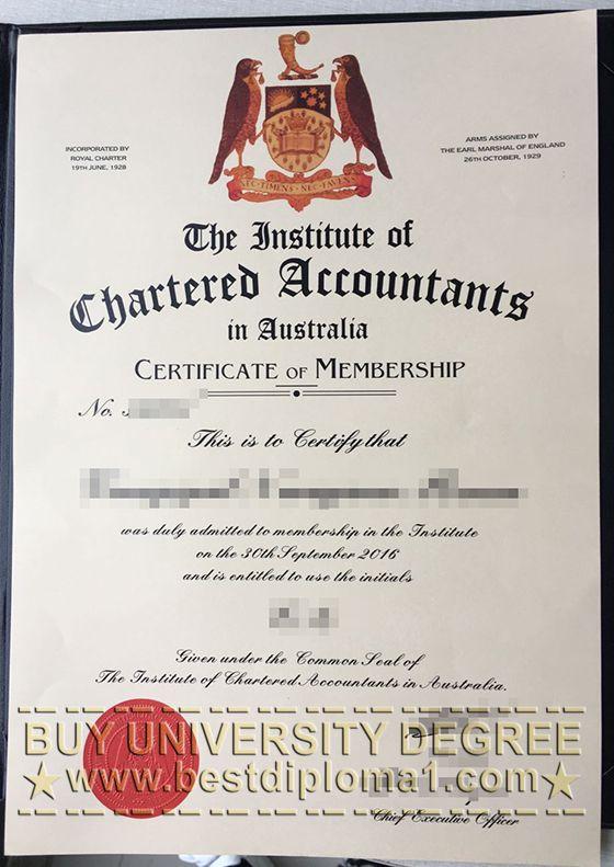 Institute of Chartered Accountants in Australia certificate
