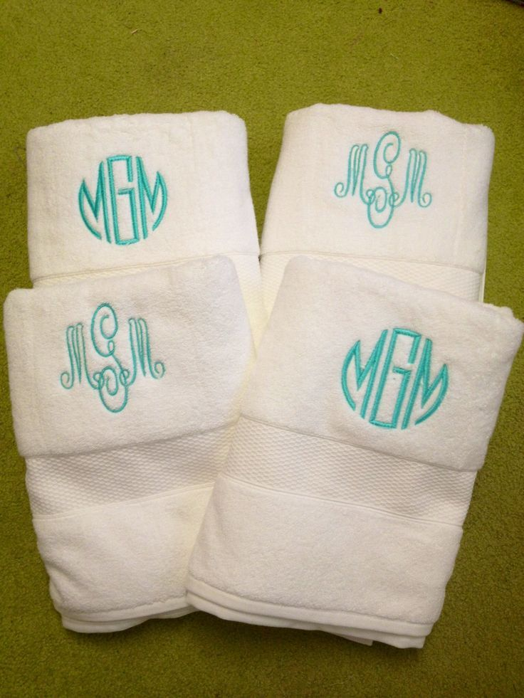 Best Personalised Towels Images On Pinterest Bath Towels - Monogrammed hand towels for small bathroom ideas