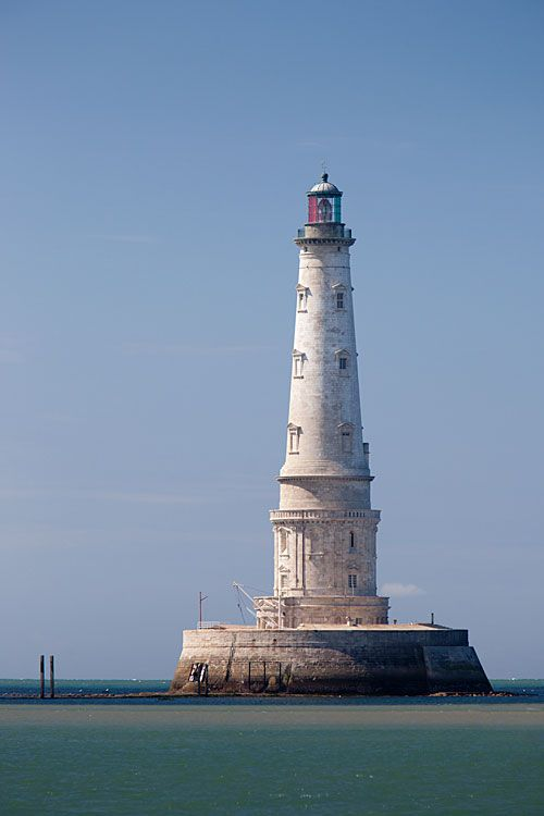 """Cordouan, oldest active french lighthouse, nicknamed """" Versailles of the sea"""" (1583-1611), Aquitaine"""