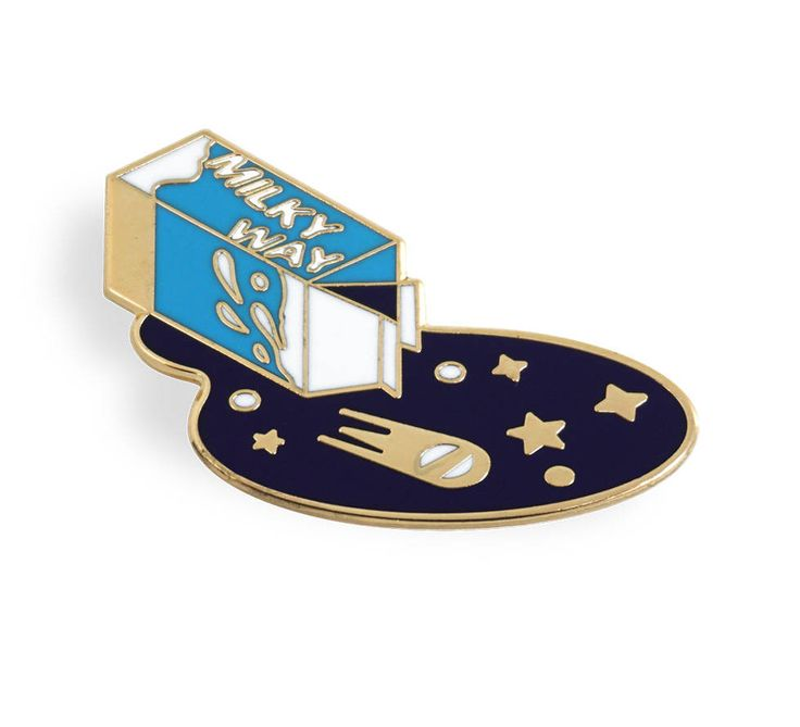 Milky Way Pin - Gold Plated Enamel Lapel Pin by OneTwoPin on Etsy