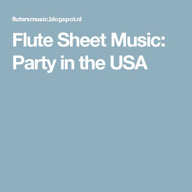 Flute Sheet Music: Party in the USA