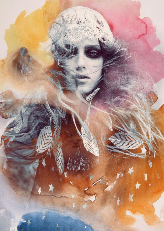 Silver Spirit // Andrey & Lili: Art Inspiration, Andrey Yakovlev, Illustration, Silver Spirit, Mixed Media, Photographer, Fashion Photography, Design