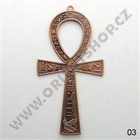 Kříž života Anch 21,5 cm měděná patina