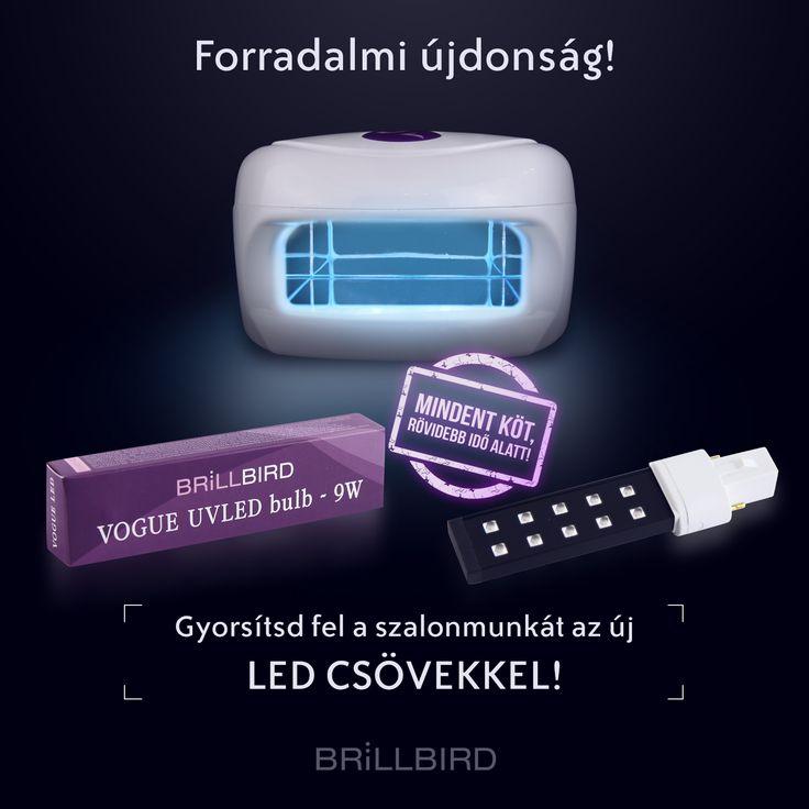 Miért szuper az új UV LED cső:- Rövid/kis méretű, kifejezetten Vogue lámpához.- Fekete színű (elől/hátul).- Teljesítmény: 9W- Valamennyi BB körmös alapanyag átköt alatta ill., kötési idejét lerövidíti.- Olyan hullámhossz tartományon működik, ami