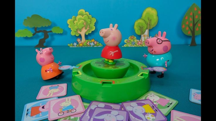 Peppa Pig in English. Peppa Pig Tumble and Spin Game. Playing with Peppa...