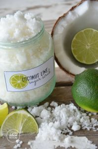 Recipe for Coconut Lime Sugar Scrub