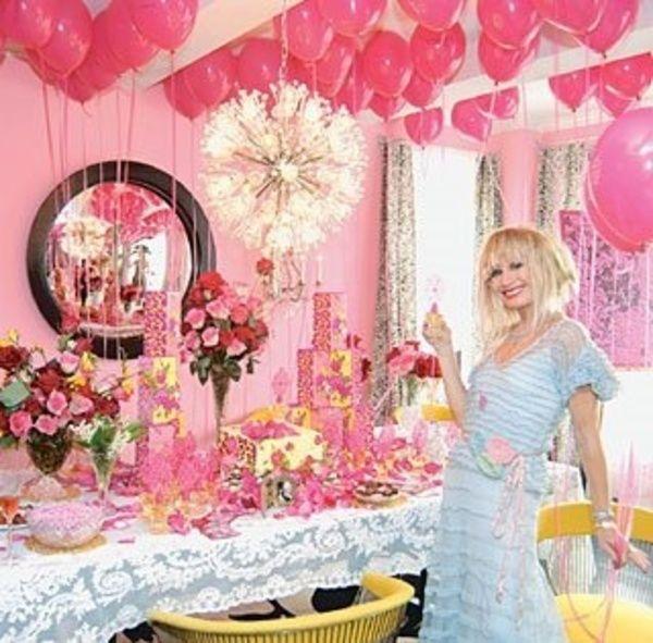ピンクパーティー用ピンク風船72個入り+水玉風船12個