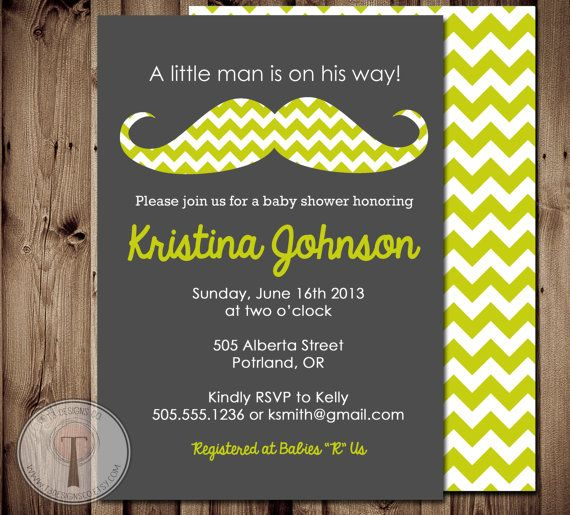 Mustache Baby Boy baby shower invitation BABY by T3DesignsCo, $12.99 LOVE THIS!