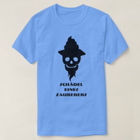 Magician sku and text Schädel eines Zauberers T-Shirt - click/tap to personalize and buy