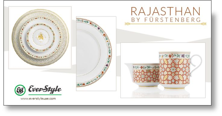 Your quest for an ultimate dining experience ends here. Everstyle Trading presents a signature collection of tableware by Fürstenberg. #tableware #crockery #cutlery #cups #dubai #whpvibrant #wtc #uae #decor #fashion #design #kitchenware #chinaware #lifestyle #dubaitag #rajasthan @SIEGERGermany