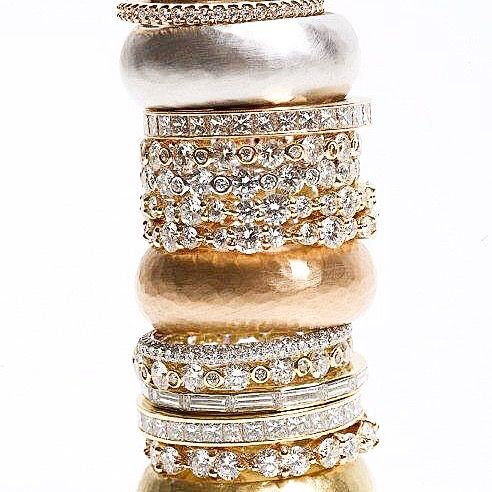 One for every finger #weddingrings #diamonds by Katramopoulos