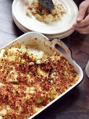 Jamie Olivers leckerer Blumenkohl-Makkaroni-Auflauf