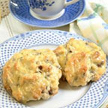 ... scones are infused with the flavor of orange zest, golden raisins and