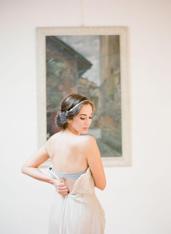 Bride Dressing for European Elopement | photography by http://buffydekmarblog.com