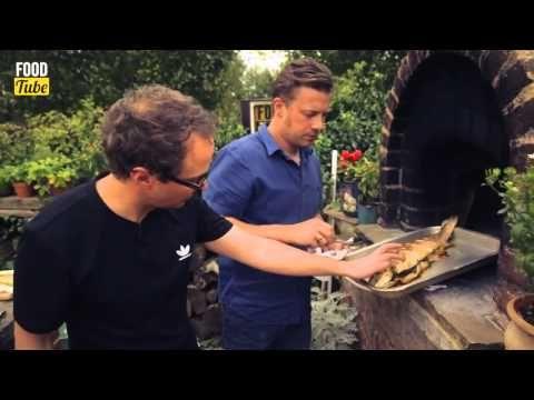 Джейми Оливер и Тоби Патток - Запеченная форель с овощами на гриле. - YouTube