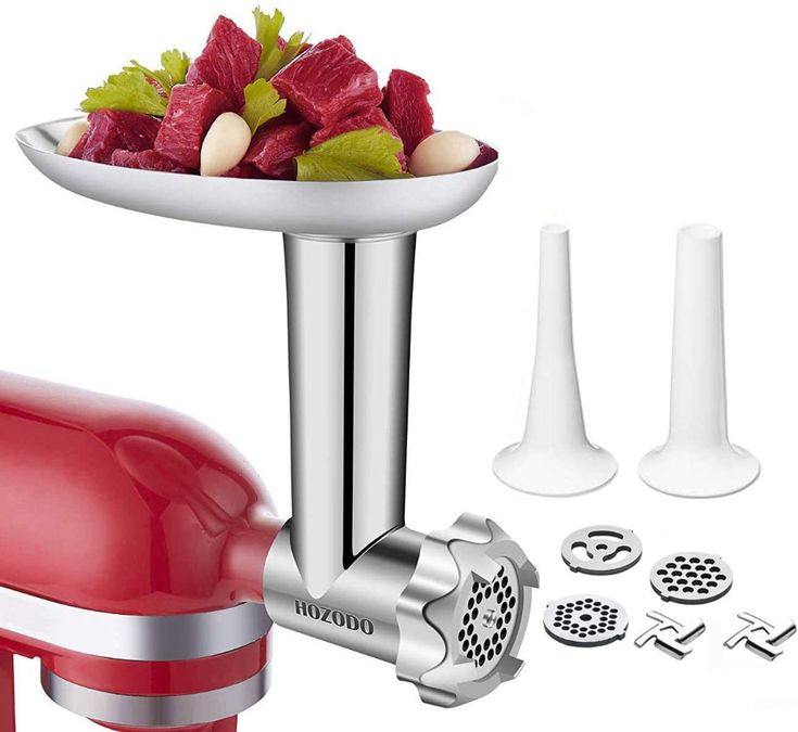 Food meat grinder attachments designed for kitchen aid in