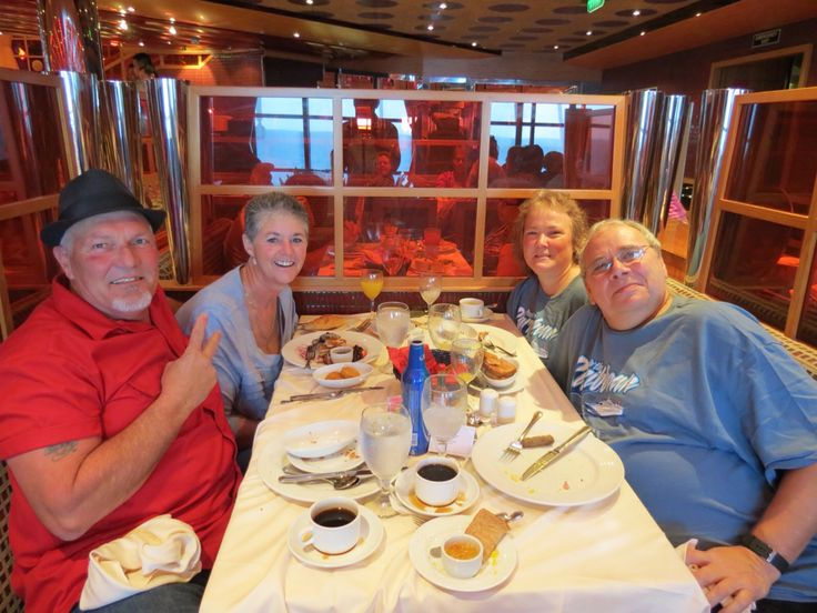 All of us on our way to nassau eating breakfast