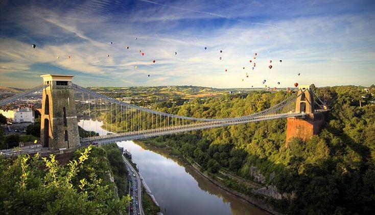 Balloons over bridge