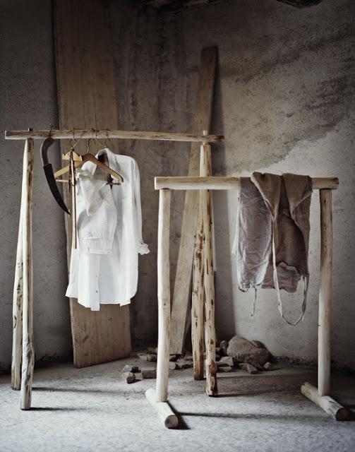 rustic clothes rack