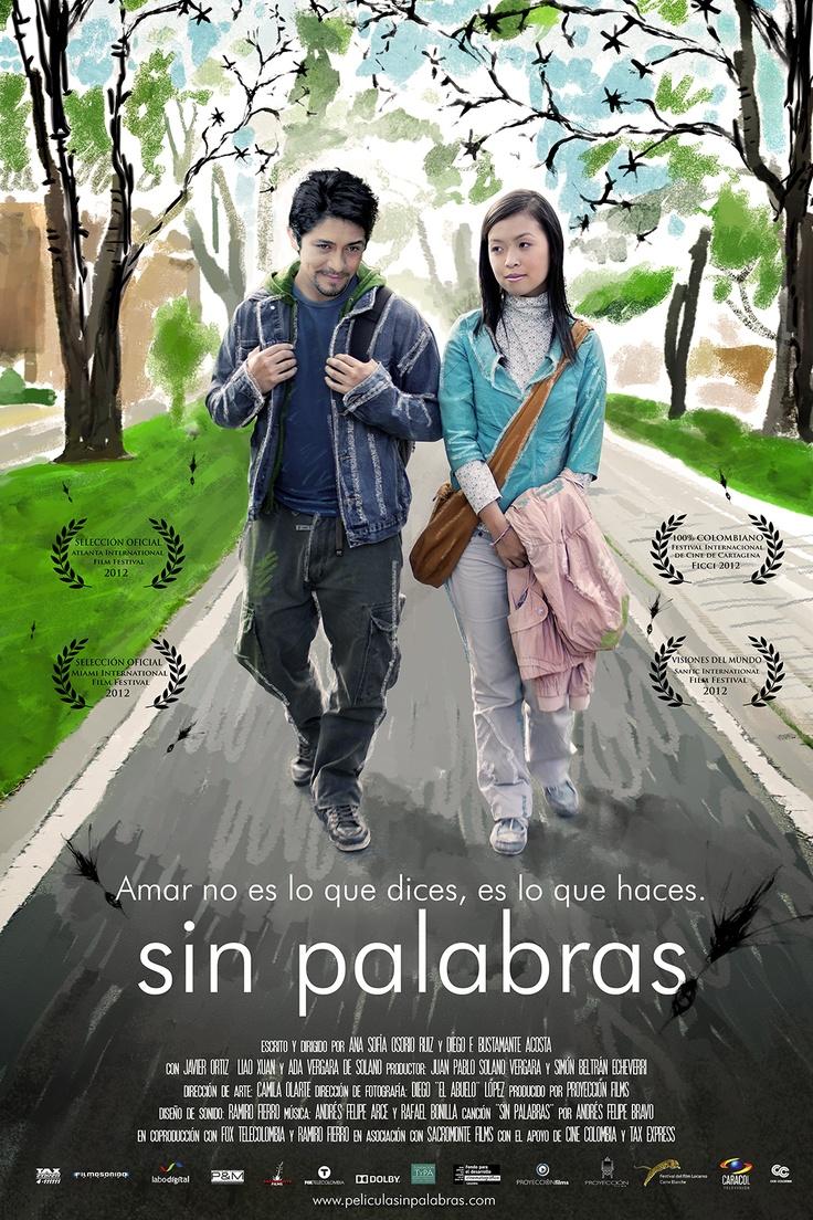 'Sin Palabras' - Afiche oficial. Una producción de Proyección Films, dirigida por Ana Osorio y Diego Bustamante.