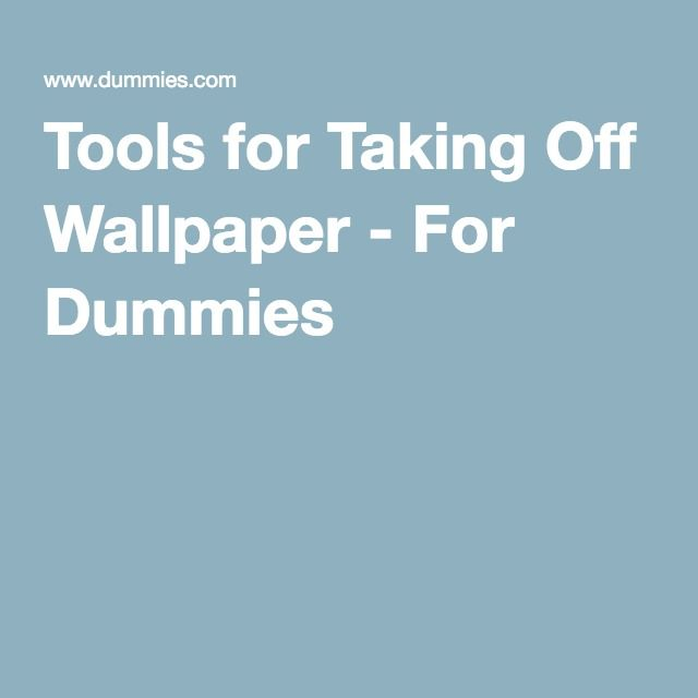 Tools for Taking Off Wallpaper - For Dummies