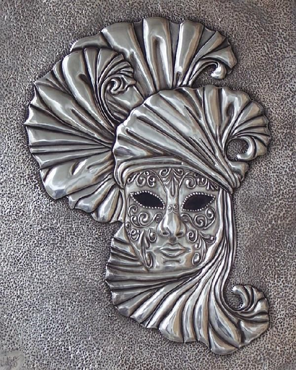 Cultural - Veldany Creations / Venetian Mask 8x10 -Pewter