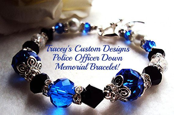Stunning FALLEN POLICE OFFICER Memorial by TraceysCustomDesigns, $36.99