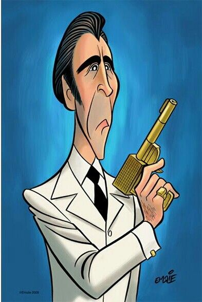 Christopher Lee by Emslie (as Francisco Scaramanga)