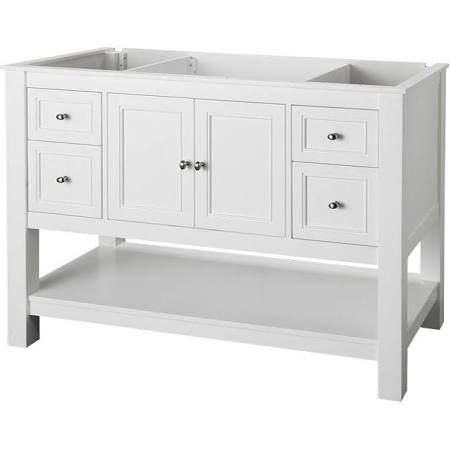 42 Inch White Bathroom Vanity With Open Bottom Shelf Google Search