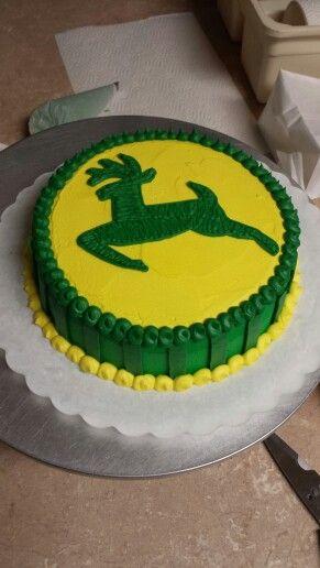 John Deere smash cake