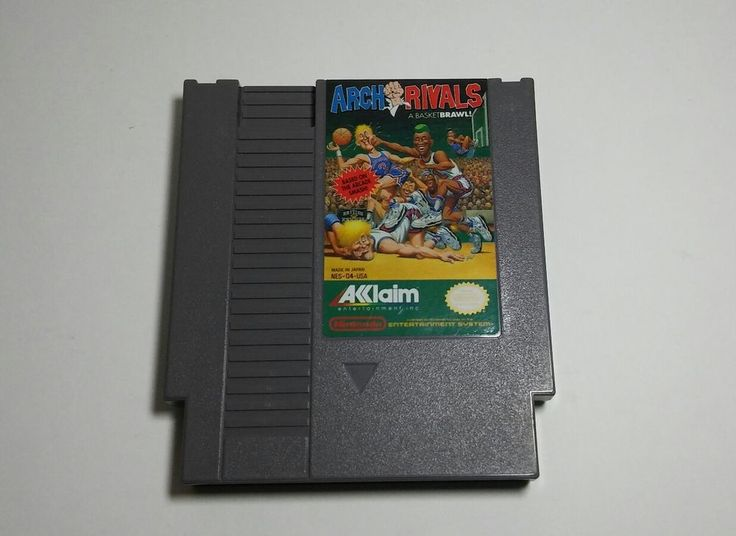 Arch Rivals Nintendo NES ('90) Basketball Sports Fighting Video Game BasketBrawl