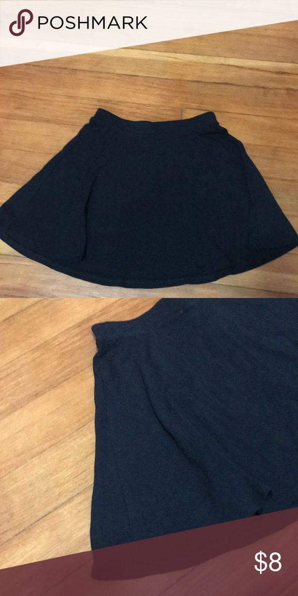 Black Mini Skirt Black mini shirt with great flare! I have never worn this skirt so there is no signs of wear or fading. 95% cotton, 5% spandex Aeropostale Skirts Mini