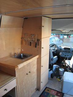 DIY Kitchen | Stealth Sprinter Van | www.sprinter-rv.com