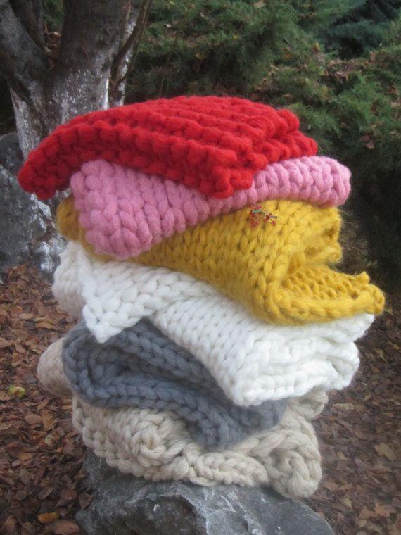 PROMO SALE Chunky Knit Blanket Smoosh Blanket by TheKnitBeyond