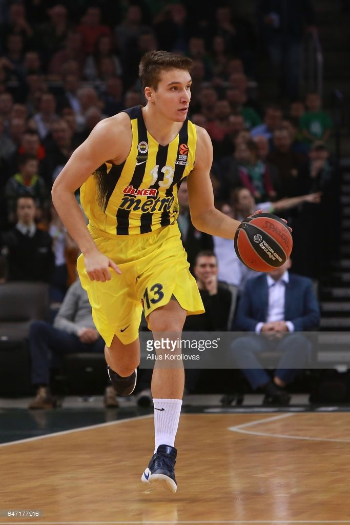 Bogdan Bogdanovic, #13 of Fenerbahce Istanbul in action during the 2016/2017 Turkish Airlines EuroLeague Regular Season Round 24 game between Zalgiris Kaunas v Fenerbahce Istanbul at Zalgirio Arena on March 2, 2017 in Kaunas, Lithuania.