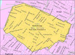 Census Bureau map of South Orange, New Jersey