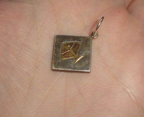 Silver pendant sterling fish design Finnish by VintagePointUK