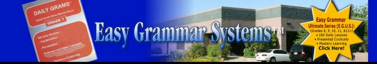 Effective grammar program that is easy to teach, easy to learn, and easy to remember.