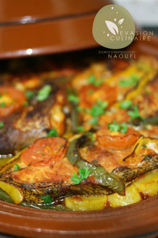 Tajine de poisson aux legumes a la chermoula