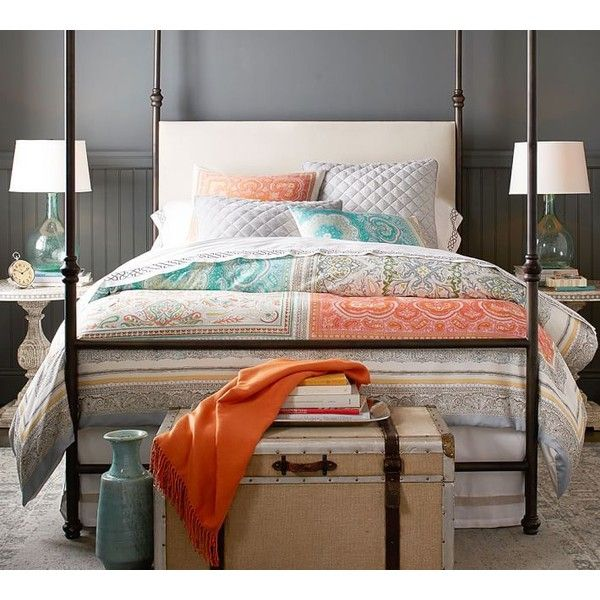 Pottery Barn Claire Scarf Print Duvet Cover ($149) ❤ liked on Polyvore featuring home, bed & bath, bedding, duvet covers, pottery barn shams, pottery barn duvet, pottery barn bed linens, pottery barn pillow shams and pottery barn