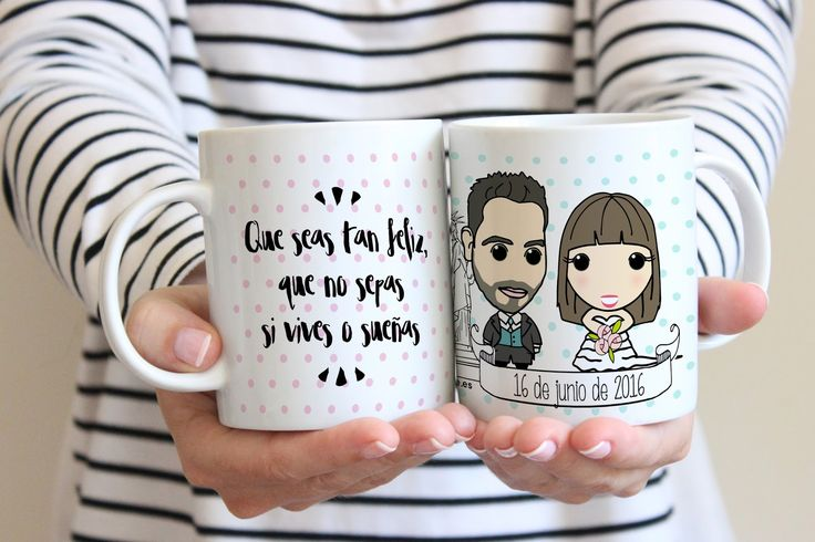 Hacer un detalle para una pareja de recién casados original  es tarea sencilla con Rite Rite ;)   Nos mandas una foto de cada uno, de fr...