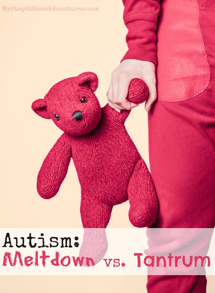 Autism Meltdown vs Tantrum - Learn the differences between an Autism meltdown and a tantrum. Learn how to cope and deal with them here.