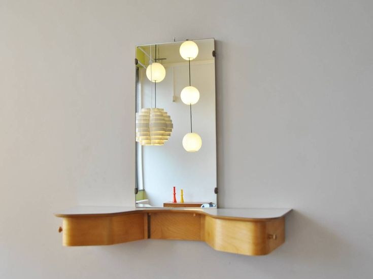 Dressing Table By Cees Braakman For Pastoe This Wall Mounted Item Is Part Of The Birch Series