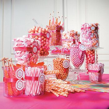 Wedding Candy Buffet, but with blue and baby pink