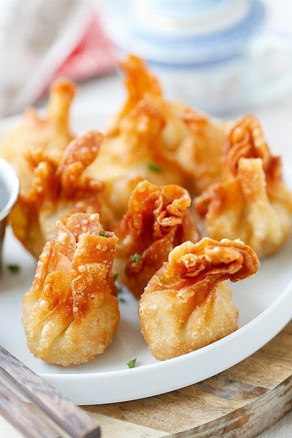 wonton de pollo - más fácil y los mejores niño pequeño adoptado de pollo frito nunca!  Tarda 20 minutos para hacer, como aislamientos.  Super crujientes y delicioso, fácil conseguir la receta |  rasamalaysia.com