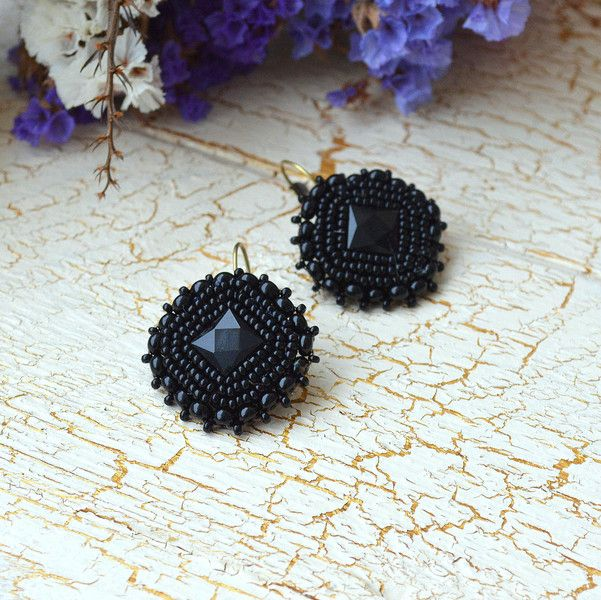 Dangle Earrings – Tenderly n.4 mini - embroidered earrings – a unique product by Tamarchi on DaWanda